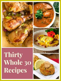 Thirty Whole30 recipes to fill your belly with deliciousness and keep you on track for the month! Get Whole30 recipe for breakfast, lunch and dinner.