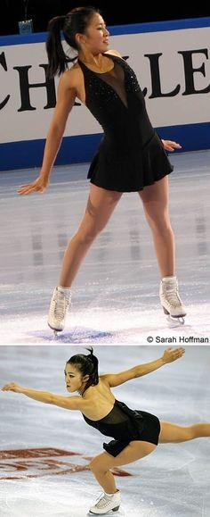 Michelle Kwan - 2005 Marshalls US Figure Skating Challenge, Black Figure Skating / Ice Skating dress inspiration for Sk8 Gr8 Designs.