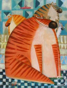 «Кис-кис» картина Урбинского Романа маслом на холсте — заказать на ArtNow.ru Outdoor Decor, Cat 2, Artist, Animals, Home Decor, Animales, Decoration Home, Animaux, Room Decor