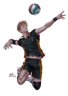 armband artist_name full_body groin haikyuu! hinata_shouyou in-hyuk_lee legband male_focus navel orange_eyes orange_hair realistic shoes signature sneakers solo sportswear toned toned_male veins volleyball volleyball_uniform wristband Haikyuu Kageyama, Manga Haikyuu, Hinata Shouyou, Haikyuu Fanart, Kagehina, Kageyama Tobio, Haikyuu Volleyball, Volleyball Anime, Anime Boys