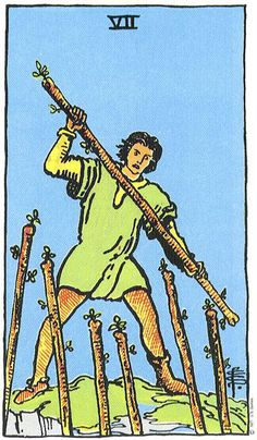 SEVEN OF WANDS - Aggression, Defiance and Conviction