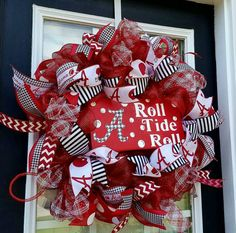 Check out this item in my Etsy shop https://www.etsy.com/listing/463842356/alabama-wreath-crimson-tide-front-door