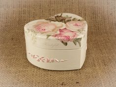 Wooden Vintage Jewelry box, Elegant gift decoupage box, shabby chic, home decoration, art box, handmade, artificially aged, wedding box wood