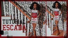 Tutorial Barbie  -Como Fazer uma Escada para BARBIE, MONSTER HIGH e EVER...