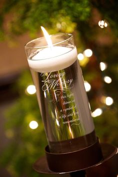 in loving memory candle wedding ideas to honor deceased loved ones