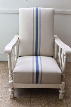 sillon antiguo tapizado en lino - Buscar con Google