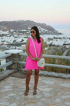 hot pink in Mykonos