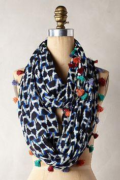 Quilted Ikat Scarf #anthropologie