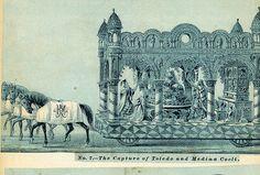No. 7  The Capture of Toledo and Media Coeli . Mardi Gras Floats . 1880s