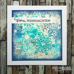 Karten-Kunst » Schneeflockige Weihnachtskarte
