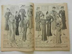 Catalogue Mode LA Samaritaine Vetements Homme Femme Enfants Hiver 1938 1939   eBay