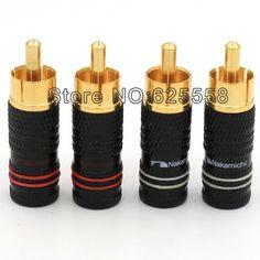 8PCS viborg audio Gold RCA Male Plug jack Solder Audio Video Cable Connector for DIY RCA Cable #Affiliate