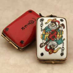Limoges Joker card Joker Card, Pretty Box, Vintage Box, Little Boxes, Jewel Box, Jokers, Small Boxes, Jewellery Box, Trinket Boxes