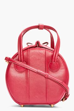 MARC BY MARC JACOBS Red Leather Darcie Showbox Shoulder Bag