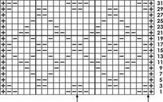 Rautenmuster - Strickschrift
