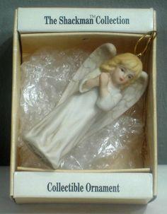 Schmid Shackman Angel porcelain ornament vintage 1988 N135 $10.00