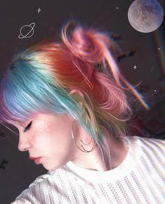 Indie Scene Hair Grunge Hair Colors - Indie scene hair grunge – indie-szene hair grunge – scène indie cheveux g - Hair Dye Colors, Hair Color Blue, Cool Hair Color, Green Hair, Purple Hair, Bright Colored Hair, Colored Girls, Hair Inspo, Hair Inspiration