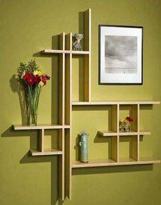 Stunning Bar Wall Shelf Furniture Design Ideas Design Bamboo Shelves At Vivavi Contemporary Sustainable Furniture Cool Shelves, Wall Shelves Design, Wooden Shelves, Floating Shelves, Wall Shelving, Glass Shelves, Bedroom Wall Shelves, Unique Wall Shelves, Picture Shelves