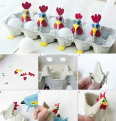 tinker-egg-boxes-chickens-tinker-egg carton-paint-easter eggs-easter basket … – Famous Last Words Kids Crafts, Diy And Crafts, Craft Projects, Easter Egg Crafts, Easter Eggs, Glue Gun Crafts, Egg Carton Crafts, Easter Pictures, Craft Activities