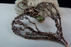 Heart Of The Forest  Copper Pendant Containing by SkyAndBeyond, $63.00