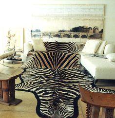 I love zebra rugs