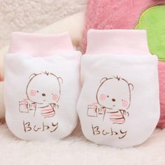 Baby Anti-grasping Gloves Newborn Protection Face 100% Cotton