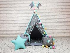 Your place to buy and sell all things handmade Kids Wigwam, Kids Tents, Teepee Kids, Teepees, Baby Teepee, Teepee Play Tent, Childrens Teepee, Baby Play, Diy Stuffed Animals
