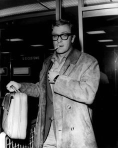 a young Michael Caine...impossibly cool and with swag that jude law can't even begin to imitate
