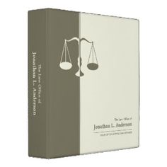 Attorney / Lawyer business binder