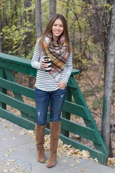 Print Mixing: Stripes + Plaid (from Eat Pray Love)
