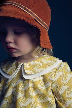 double peter pan collar & so cute fabric | Hucklebone's Autumn/Winter '10 collection