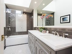 Vintage Victorian Home Gets a Classic Bathroom  Remodel - Dura Supreme Cabinetry designed by Gilmans Kitchens and Baths and Noel Han, Interior Designer