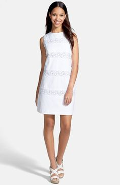 Maggy London Lace & Cotton Piqué Sheath Dress available at #Nordstrom
