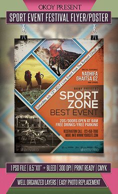 Buy Sport Event Festival Flyer / Poster by OKOY on GraphicRiver. Sport Event Festival flyer templates or poster template designed to promote any kind of music event, concert, festiva.