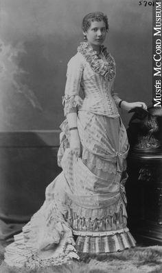 A lovely 1880 dress Antique & vintage historical fashion clothing at Ruby Lane. www.rubylane.com @rubylaneinc