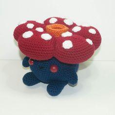 Vileplume is available and READY TO SHIP! Link to shop in profile.  #crochet #amigurumi #kawaii #chibi #cute #adorable #Vileplume #pokemon #myoriginaldesign #HeartstringCrochet #BigCartel by heartstringcrochet
