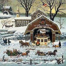 """'Twas the Twilight Before Christmas"" by Charles Wysocki. ""'"