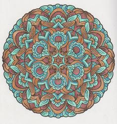 Magical Mandalas 008 done with pencils Adult Coloring, Coloring Pages, Creative Haven Coloring Books, Celtic Crosses, Gel Pens, Mandala Art, Mindful, Zentangle, Colors