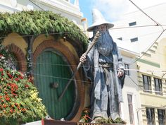 Gandalf visited Wellington, (yes it was a little after Wizard's Guide was actually written, but the idea of creating a mythology for a city was kind of a take on Tolkien's idea to create a new mythology for Britain.)
