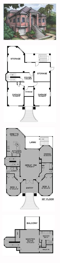 Florida Cracker Style COOL House Plan ID: chp-24540 | Total Living Area: 2178 sq. ft., 3 bedrooms and 2 bathrooms. #floridahome