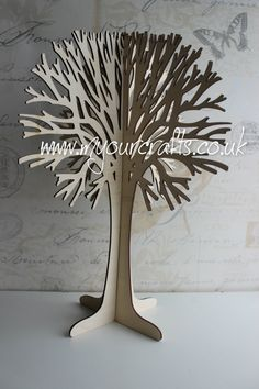 Wooden free standing 3D tree made from ply wood. Can be used for crafts, Christmas,Christening, Easter, birthday,wedding guestbook, jewellery stand,Wishing tree etc. For more gifts visit www.myourcrafts.co.uk