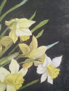 Another shot of my Edith A. Andrews painting.  An unusual view of the daffodil from behind.