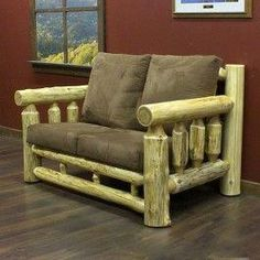The Cedar Lake Cabin Log Loveseat is made from Northern White Cedar. This log loveseat will look beautiful in your home, lodge, log cabin, or country cottage. Visit us online or call for more log furniture.