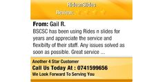 BSCSC has been using Rides n slides for years and appreciate the service and flexibilty of...