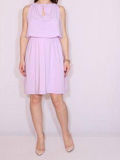 Lavender dress Prom dress Short chiffon dress for bridesmaid