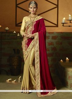 Precious Fancy Fabric Maroon Designer Saree Model: YOSAR6342