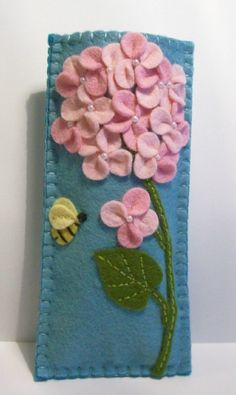 Hydrangea Eyeglass Case.........would be pretty on a pillow!
