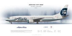 Boeing 737-900 Alaska Airlines N495AS | Airliner Profile Art Prints  | www.aviaposter.com | #airliners #aviation #jetliner #airplane #pilot #aviationlovers #avgeek #jet #sideplane #alaska #flyalaska #b373 #b739 #boeing737