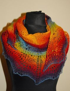 THIS SHAWL WILL BE MADE TO ORDER. I need about 2 weeks to make such shawl (plus delivery time).  Important: sequence of colors may be different than