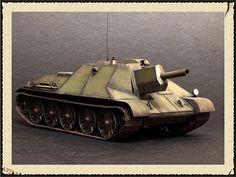 Самоходная установка СГ-2 на базе танка Т-34, декабрь 1942г. — Каропка.ру — стендовые модели, военная миниатюра